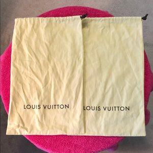 Louis Vuitton dust bag & shoe box